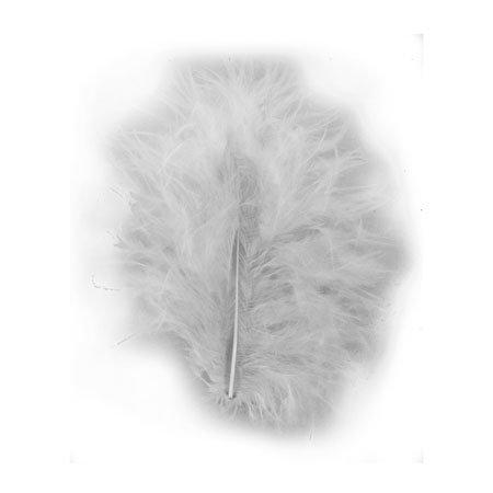 Plumes - Gris - 8 cm - 10 pces