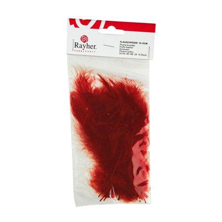 Plumes - Rouge brun - 10-15 cm - 15 pces