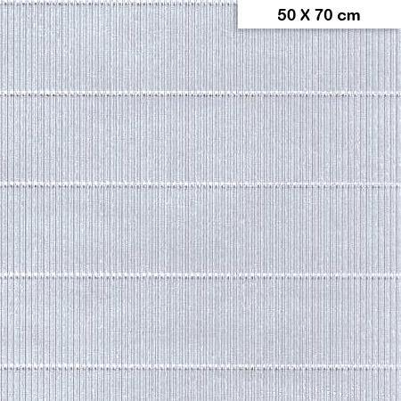 Carton ondulé mini - Argent - 50 x 70 cm