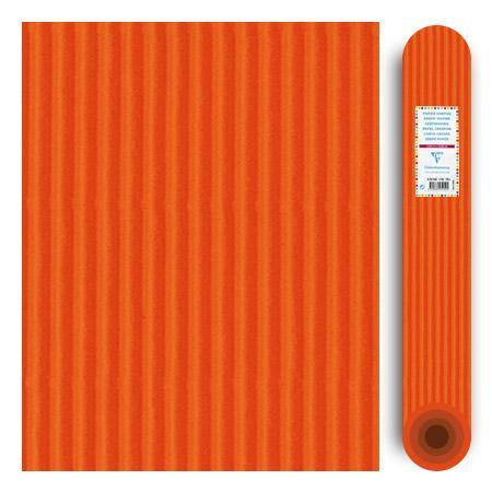 Carton ondulé média 300g - Orange - 70 x 50 cm