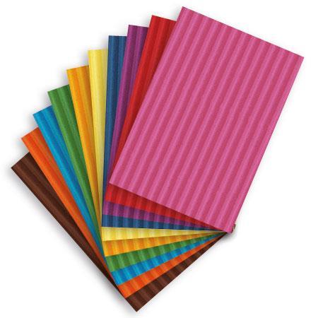 Carton ondulé média 300g - Assortiment de 10 feuilles 22 x 32 cm