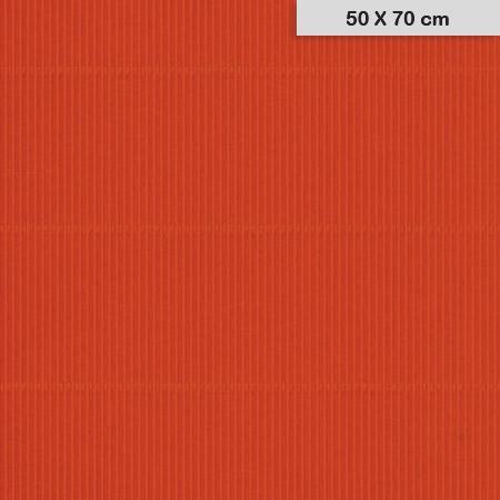 Carton ondulé mini - Rouge - 50 x 70 cm