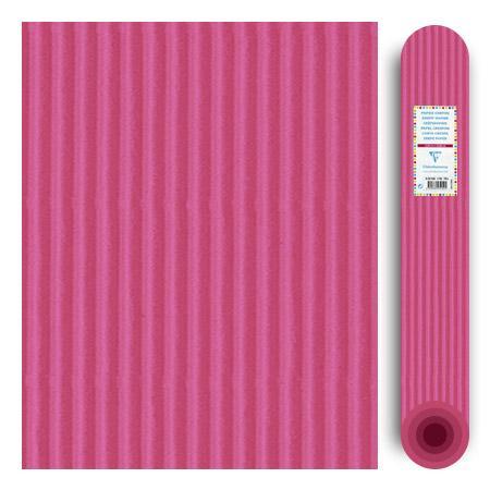 Carton ondulé média 300g - Rose - 70 x 50 cm