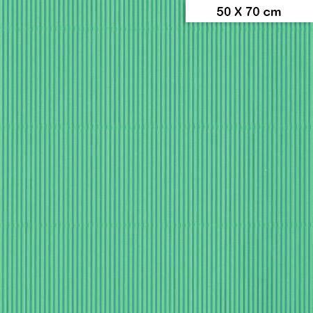 Carton ondulé mini - Turquoise -220g - 50 x 70 cm
