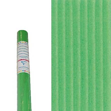 Carton ondulé - vert - 50 x 70 cm