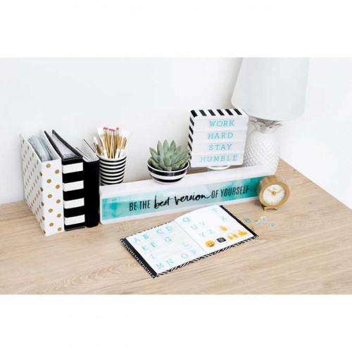 Tableau lumineux - Lightbox Shelf - bloc blanc