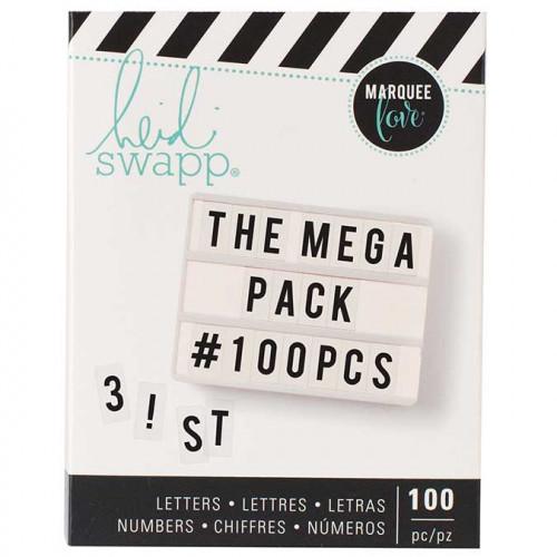 Lettres pour Tableau lumineux Lightbox - noir - 100 pcs