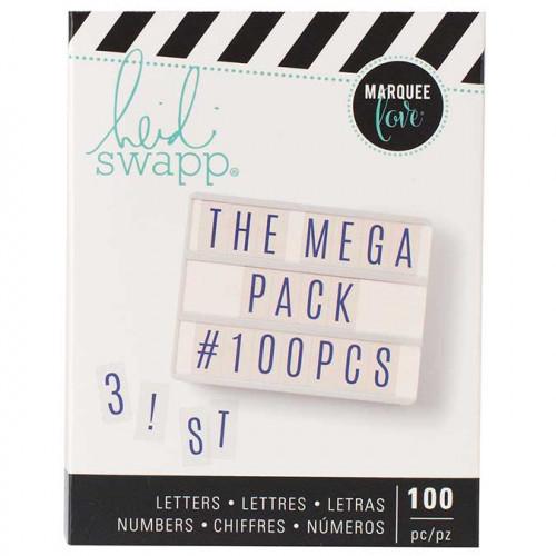 Lettres pour Tableau lumineux Lightbox - bleu - 100 pcs