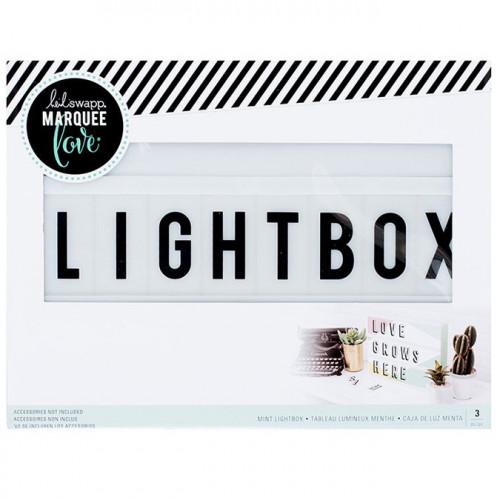 Tableau lumineux Lightbox vert clair