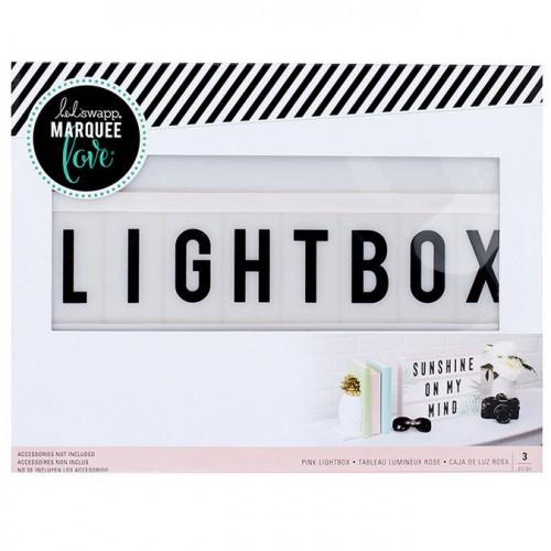 Tableau lumineux Lightbox rose