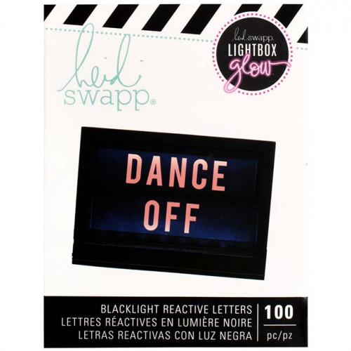 Lettres réactives à la lumière noire pour Lightbox Glow - orange - 100 pcs