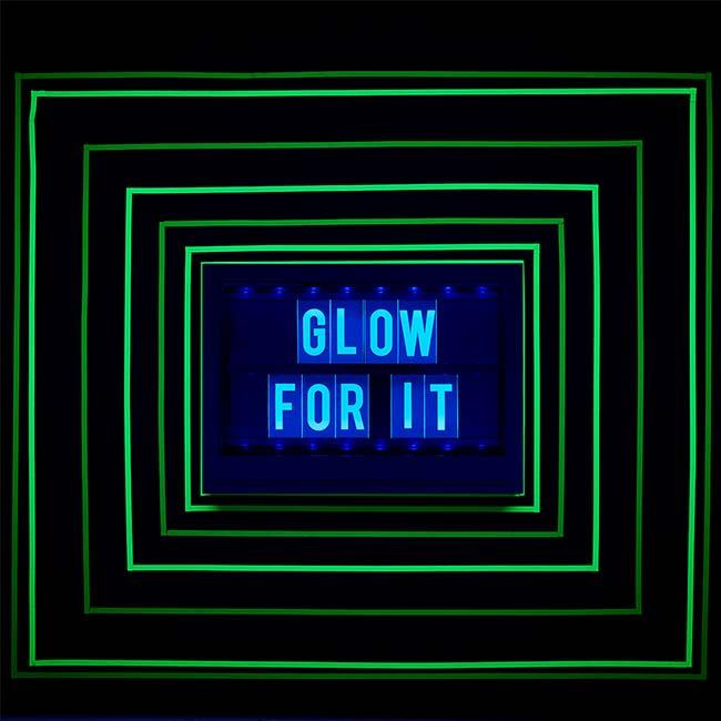 Lettres réactives à la lumière noire pour Lightbox Glow - vert - 100 pcs