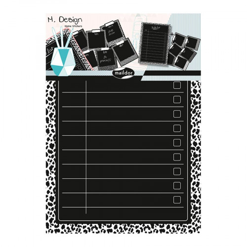 M.Design - Stickers muraux - To do list - 2 planches - 34,5 x 49 cm
