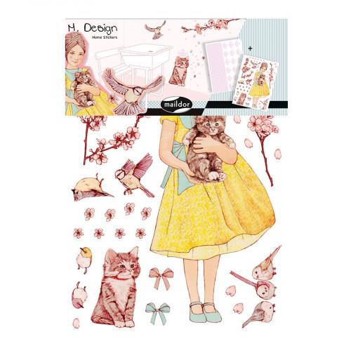 M.Design - Stickers muraux - Princesses - 2 planches - 34,5 x 49 cm