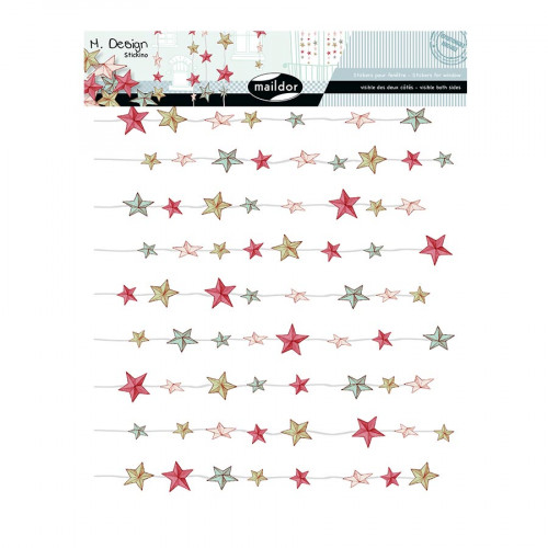 M.Design - Stickers pour Fenêtres - Rideaux d'étoiles