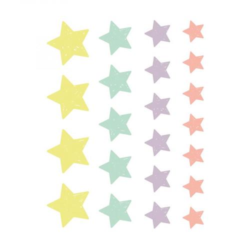 M.Design - Stickers pour Fenêtres - Guirlandes d'étoiles