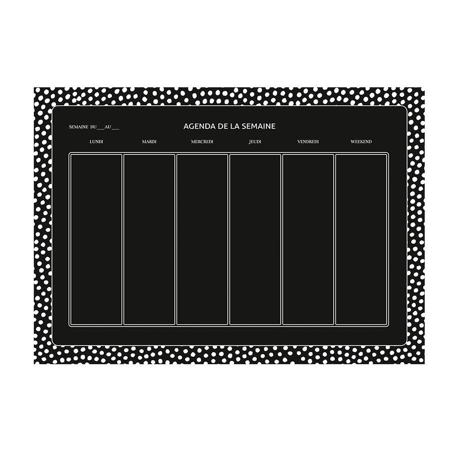 M.Design - Stickers muraux - Semainier ardoise - 2 planches - 49 x 69 cm