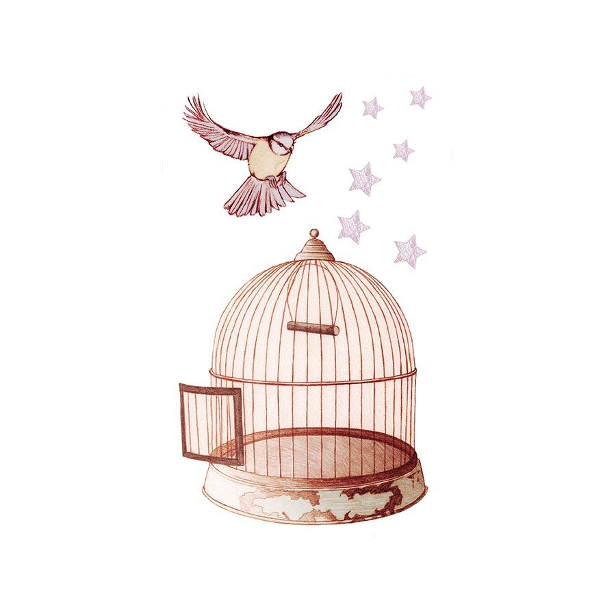 M.Design - Stickers interrupteur Switchy - Cage à oiseau