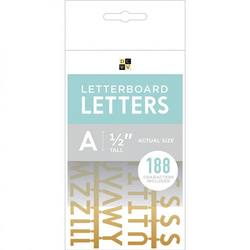 Caractères pour Letter Board - 1,3 cm - or - 188 pcs