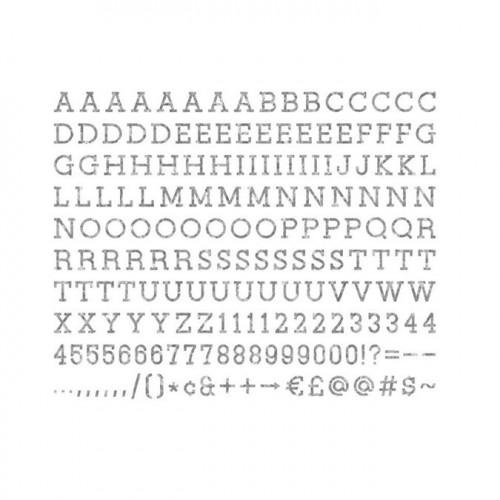Caractères pour Tableau à messages - métal - 2,5 cm - 188 pcs