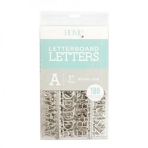 Caractères pour Letter Board - 2,5 cm - argent - 188 pcs