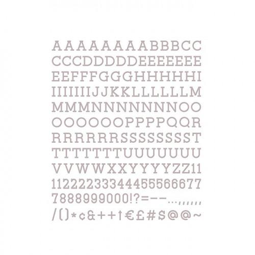 Caractères pour Letter Board - 2,5 cm - gris - 188 pcs
