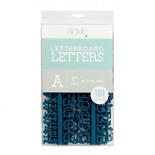 Caractères pour Letter Board - 2,5 cm - bleu marine - 188 pcs