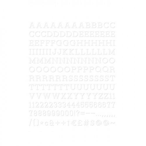 Caractères pour Letter Board - 2,5 cm - blanc - 188 pcs