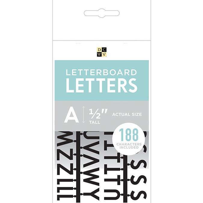 Caractères pour Letter Board - 1,3 cm - noir - 188 pcs