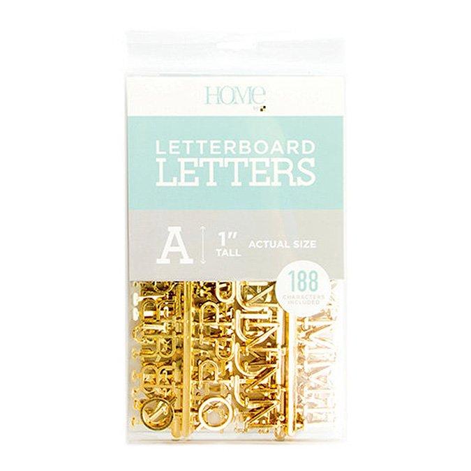 Caractères pour Letter Board - 2,5 cm - or - 188 pcs