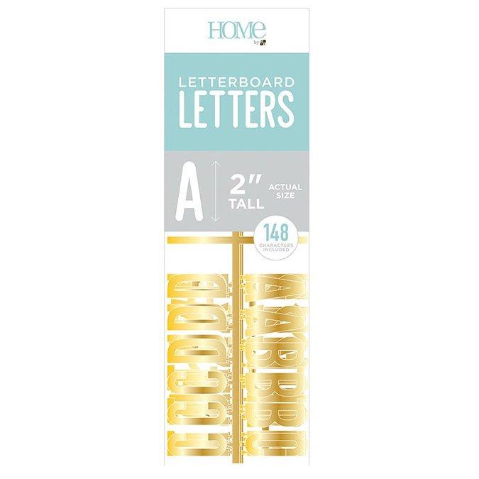 Caractères pour Letter Board - 5 cm - or - 148 pcs