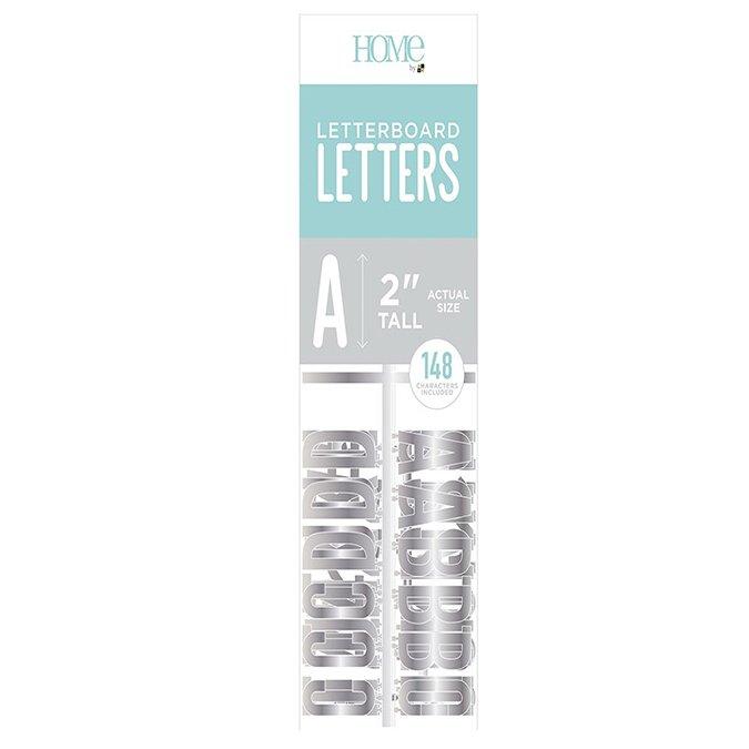 Caractères pour Letter Board - 5 cm - argent - 148 pcs