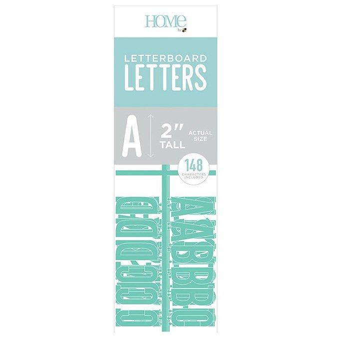 Caractères pour Letter Board - 5 cm - turquoise - 148 pcs