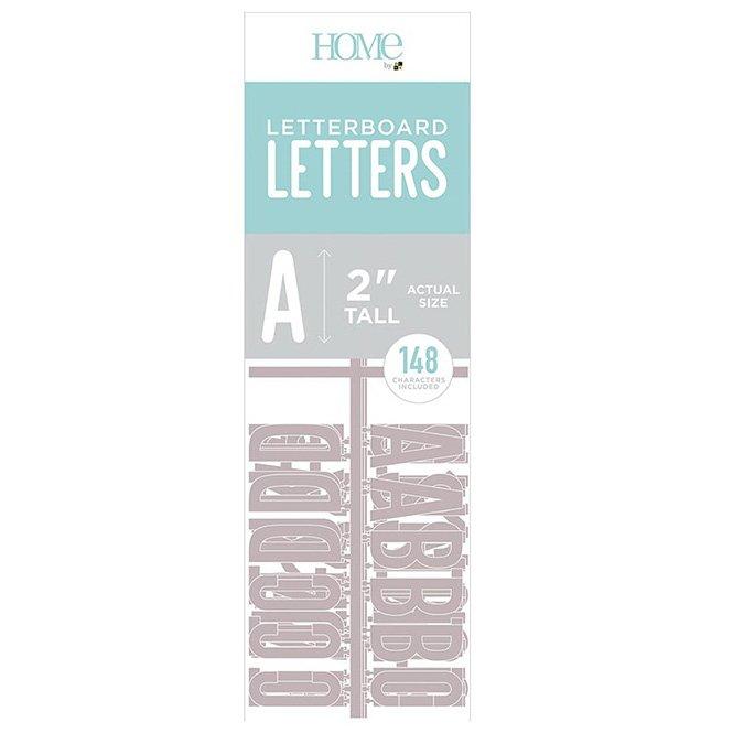 Caractères pour Letter Board - 5 cm - gris - 148 pcs