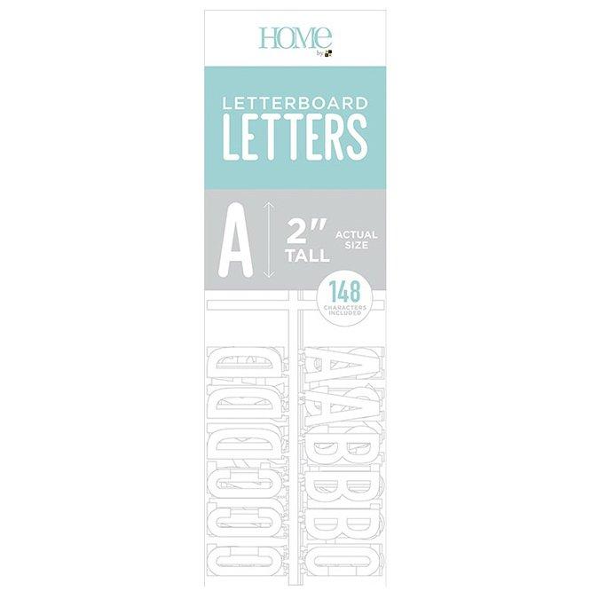 Caractères pour Letter Board - 5 cm - blanc - 148 pcs