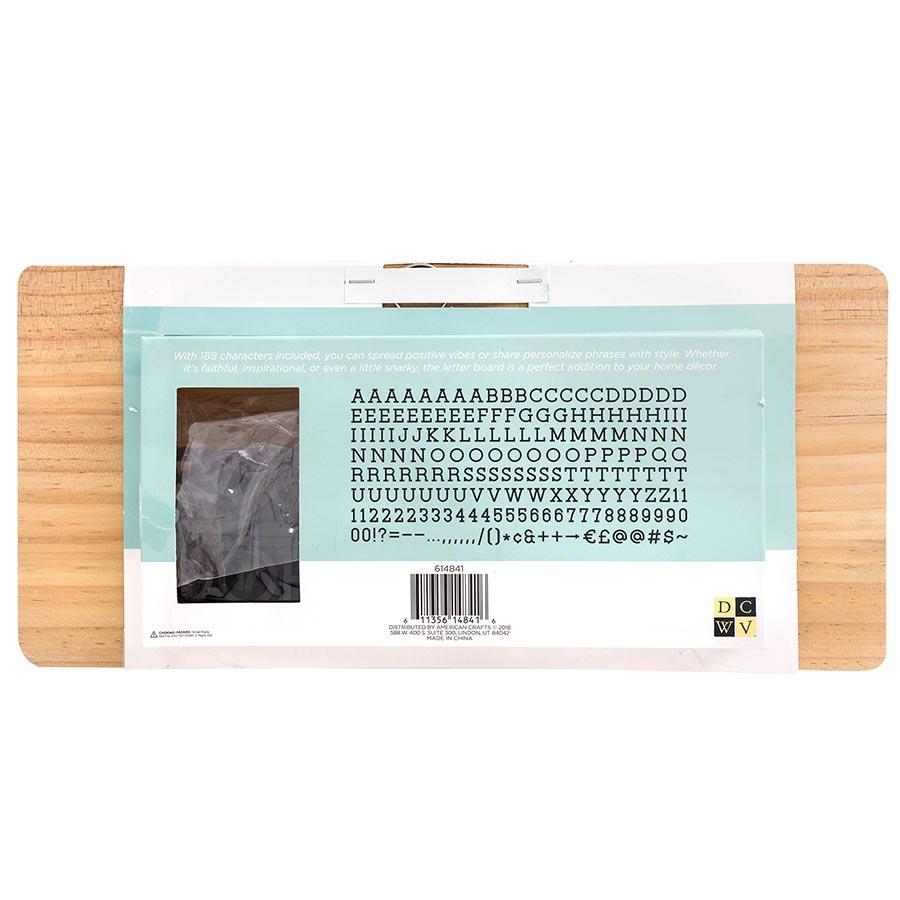 Tableau à messages Letter Board - bois clair - 38,1 x 17,8 cm
