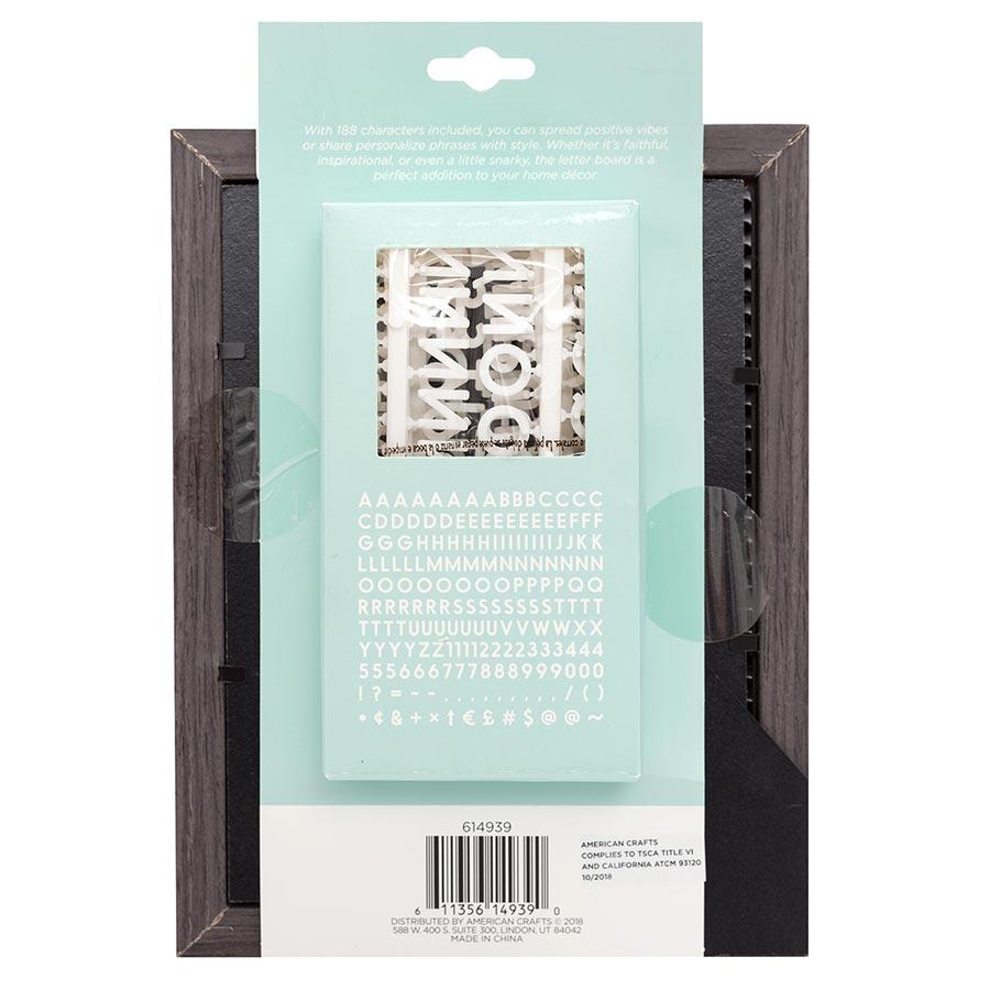 Tableau à messages Letter Board - noir/gris - 16,5 x 21,6 cm