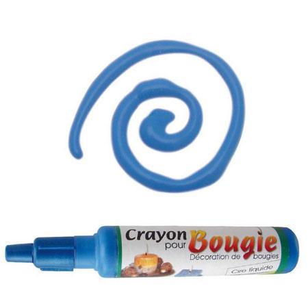 Crayon pour bougies - Bleu