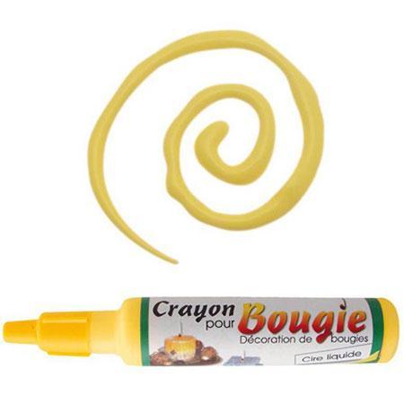 Crayon pour bougies - Jaune