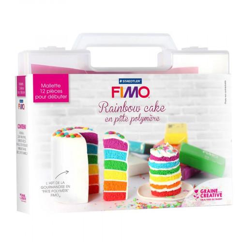 Fimo - Malette Rainbow Cake