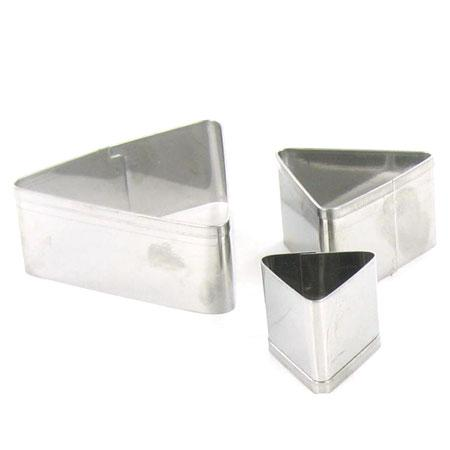 3 emporte pièces - Triangle - GM : 4 x 4.5 cm