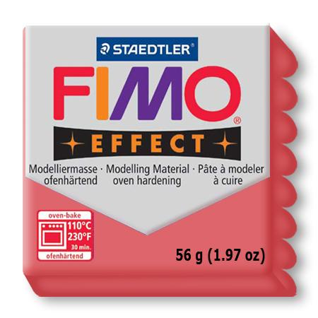 Fimo effect - Rouge translucide (204)