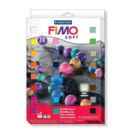 Coffret Fimo Soft - 24 pains de 25 g