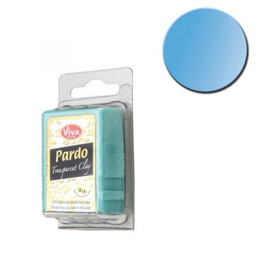 Pâte polymère Pardo Jewellery Clay Transparent Bleu 56 g