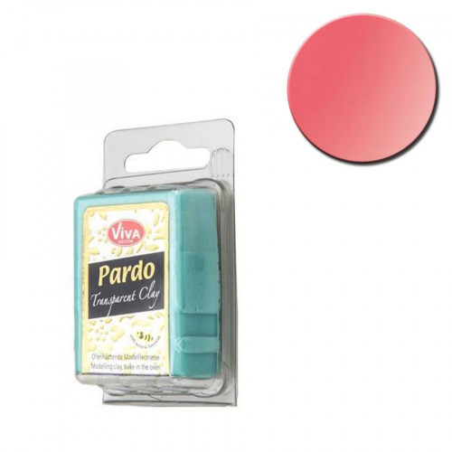 Pâte polymère Pardo Jewellery Clay Transparent Rouge 56 g