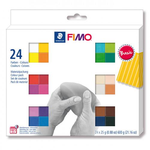 Assortiment Fimo Soft couleurs basiques - 24 x 26 g