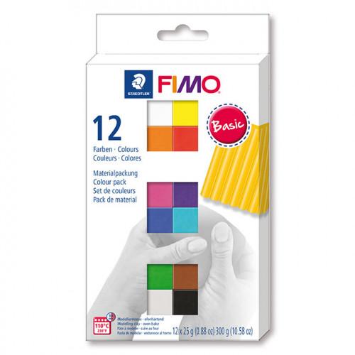 Assortiment Fimo Soft couleurs basiques - 12 x 26 g