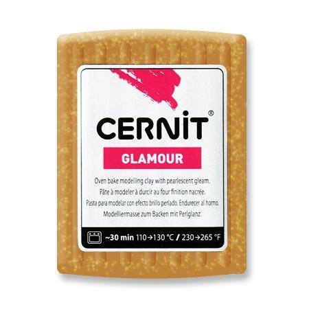 Pâte Polymère Cernit Glamour Doré 56 g