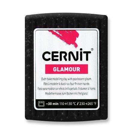 Pâte Polymère Cernit Glamour Noir 56 g