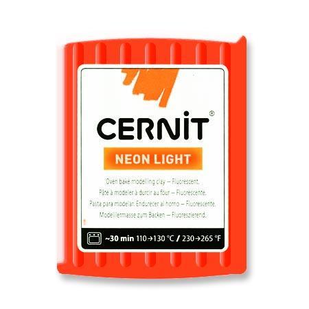 Pâte Polymère Cernit Néon Orange 56 g